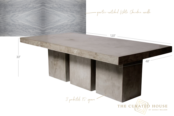 polycor white cherokee custom marble outdoor diniing table