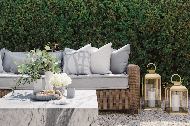Sarah Walker-The Curated House-Backyard Makeover-sectional-close-up